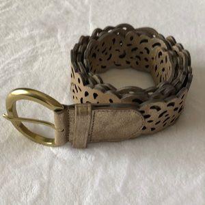 "Accessories - NWT 2"" Gold Belt XL"